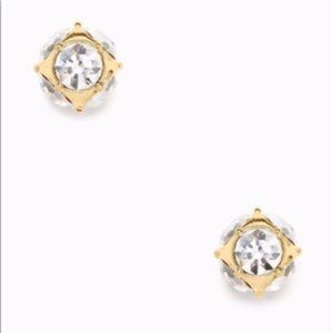 NWT KATE SPADE *GOLD* Lady Marmalade Stud Earrings